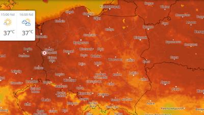 Zabójcze upały w Polsce. W niedziele nawet 37 stopni Celsjusza