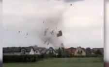 Trąba powietrzna  uderzyła w miejscowość Kaniów