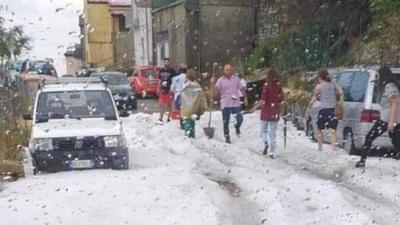 Włochy i zabójcza pogoda - burze i grad są zagrożeniem dla ludzi