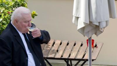 Lech Wałęsa ma problem z alkoholem