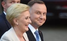 Andrzej Duda i Agata Duda na imprezie