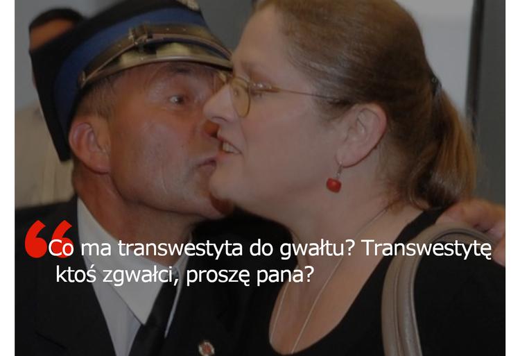 Krystyna Pawłowicz ko transwestytach