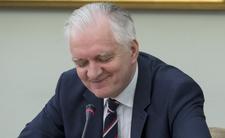 Jarosław gowin chwali się kiełbasą