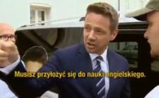 """Rafał Trzaskowski uczy """"Amerykanina"""" mówić po angielsku"""