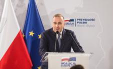 Grzegorz Schetyna podczas konwencji KO w Poznaniu