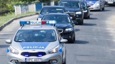 Samochód SOP z ministrem w środku został zatrzymany przez policję