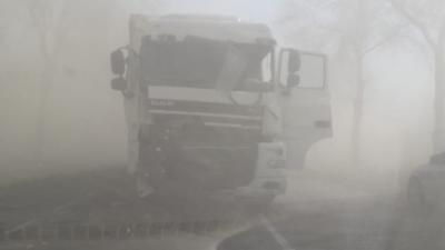 Burza piaskowa w Polsce - wypadek i utrudnienia na drogach
