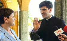 Premier Beata Szydło pokazała syna Tymoteusza mediom