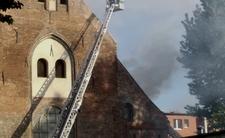 Pożar kościoła w Gdańsku