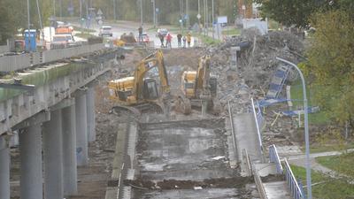 Koszalin: Zawalił się wiadukt
