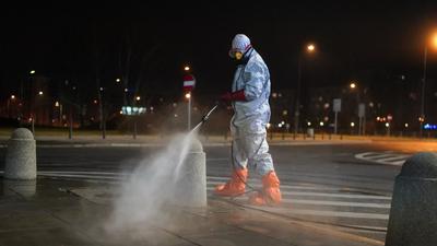 Koronawirus: Duże polskie miasto poddane dezynfekcji
