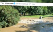 Warszawa i poważna awaria wodociągowa - pękła rura przy parku Skaryszewskim