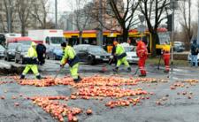 Protest rolników doprowadził do zniszczeń w Warszawie