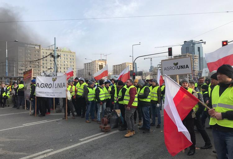Protest rolników w Wraszawie 1
