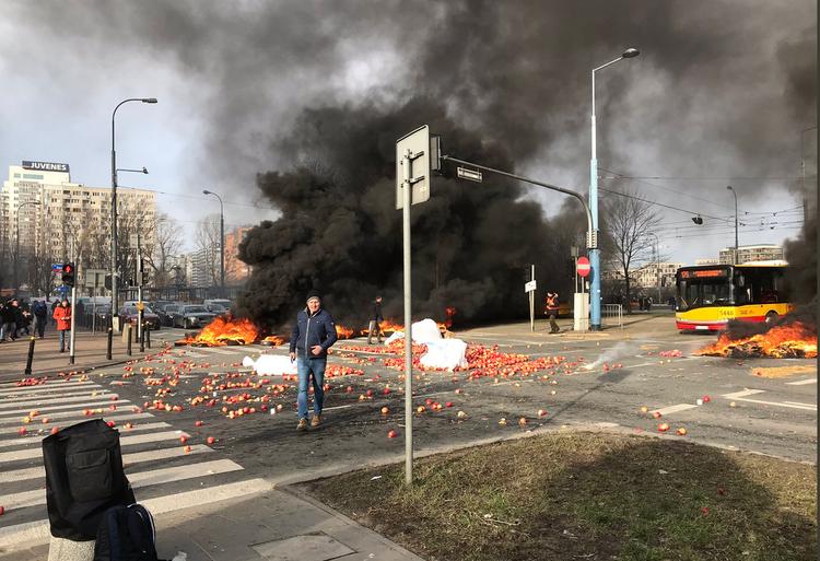 Protest rolników w Wraszawie 3