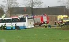 Wypadek autobusu szkolnego - dziecko straciło palce