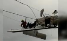 Wypadek w górach - samolot uderzył w wyciąg narciarski