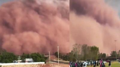 Armagedon w Australii! Grad jak piłki i monstrualna burza piaskowa