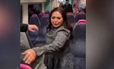 Atrakcyjna 24-latka molestowała mężczyzn w pociągu. Wszystko nagrali [WIDEO]