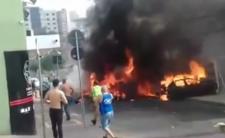 Katastrofa samolotu w Brazylii - maszyna spadła na ludzi na ulicy
