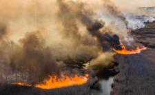 Ogień w najbardziej skażonej strefie, radioaktywne cząstki w powietrzu