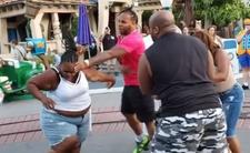 Ostra bójka w parku rozrywki dla dzieci - tak bawią się dorośli