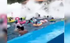 Szokujące wideo i uderzenie fali tsunami w Chinach