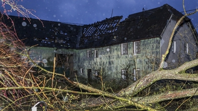 Trąba powietrzna przeszła przez niemieckie miasto Roetgen
