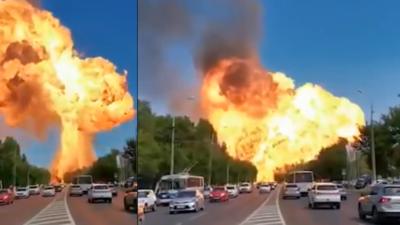 Potężny wybuch na stacji benzynowej