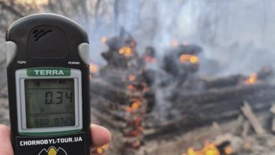 Licznik Geigera pokazał ogromny wzrost promieniowania w Czarnobylu